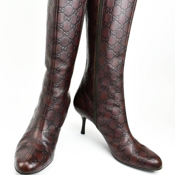 e73aa09e2 Gucci Shoes - Gucci Guccissima - Brown Leather